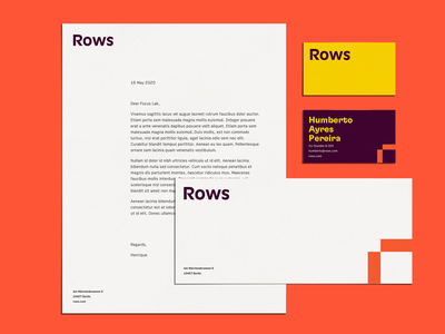 Meet Rows ✨ stationery brand development branding agency logotype logo design identity branding focus lab