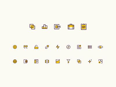 Iconic brand development brand design identity iconography icons icon branding focus lab