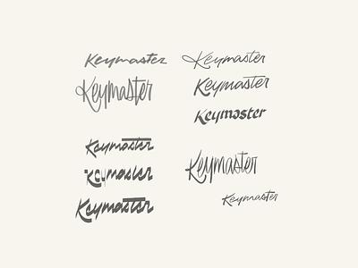 Key Maestro vintage retro workmark logotype branding typography lettering