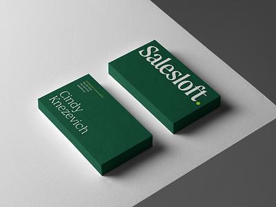 Salesloft Rebrand custom type serif wordmark logotype logo design brand identity business card rebrand branding