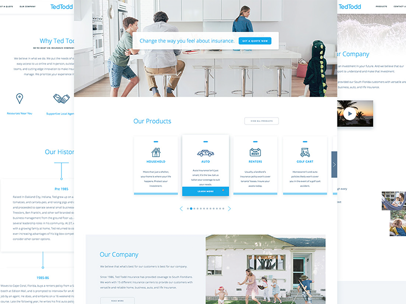 TTI Redesign allstate mobile insurance clean ux ui web design focus lab