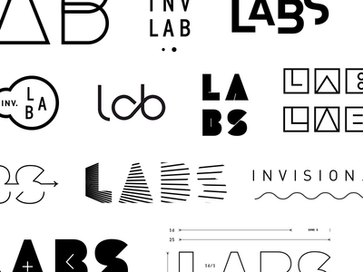 Invision Labs ideation brand development identity design shapes logotype modular labs logo design identity focus lab branding