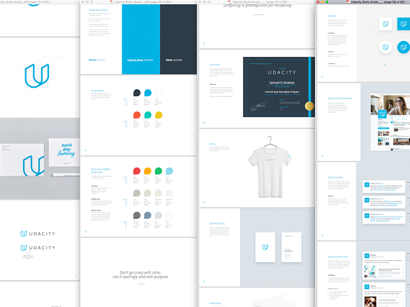 Udacity Brand Guidelines By Focus Lab Dribbble