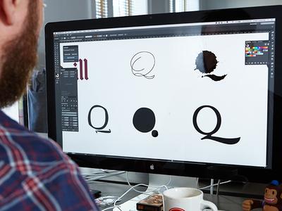 Exploring the Q ideation brand design identity design lettering quill q focus lab identity branding