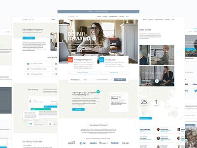 Udacity website overhaul responsive ux ui focus lab user experience website design site design content strategy identity design branding
