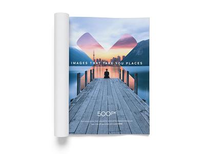 500px Ad Work marketing identity design branding print layout advertising 500px focus lab