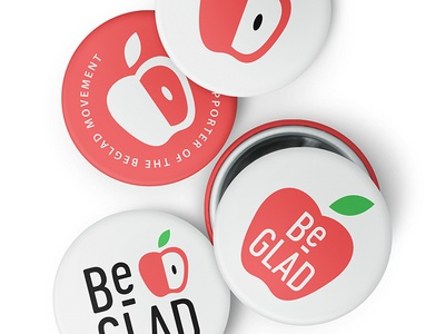 BeGLAD Buttons education students teaching identity design brand design logo apple identity branding