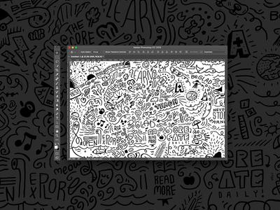 Doodlemania students school education illustration sketching doodles identity focus lab branding