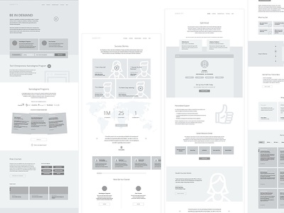Udacity Wireframes content planning content layout strategy planning wires client presentation layout presentation focus lab wire frames wireframes