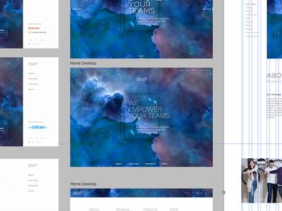 Homepage Exploration screen design user experience web grid grid fullscreen innovate xwp homepage website design web design ui focus lab