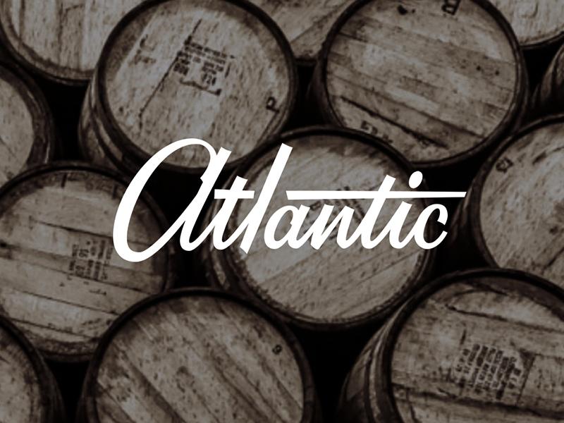 Atlantic Logotype focus lab custom logotype atlantic restaurant logo design identity design identity process brand identity process logotype
