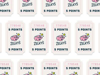 Beach Arcade Tickets - Identity Design prize ticket elephant arcade zelkys identity focus lab branding
