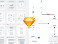 Sketch Sitemapping User Flow