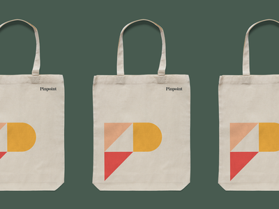 Pinpoint rebrand on totes 👜 focus lab logo branding and identity totes identitydesign brand design logo design brand identity pinpoint branding