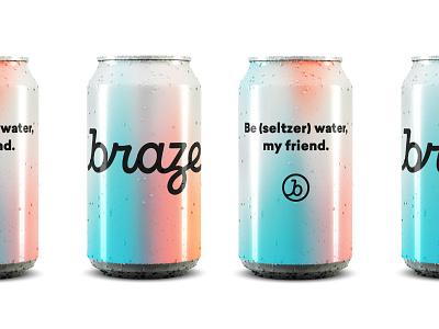 Braze Branding Can aluminum can can braze brand agency branding agency brand identity design brand development logo logotype brand identity brand design logo design identity identity design branding focus lab