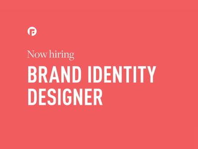 Now Hiring: Brand Identity Designer