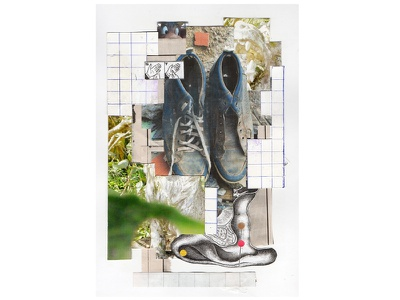 street statues zine collage art analog collage abstract art eye collage