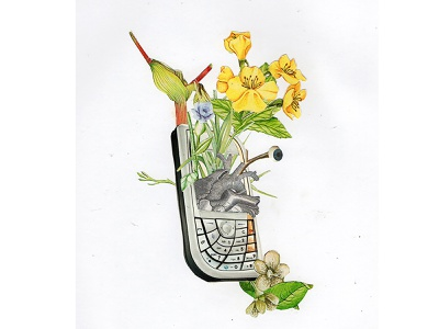 Ideal analog analog collage collage art flower abstract art collage