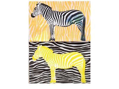 Zebra zebra sketchbook collage