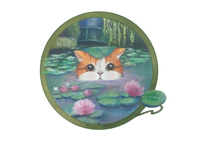 Water lily kitty