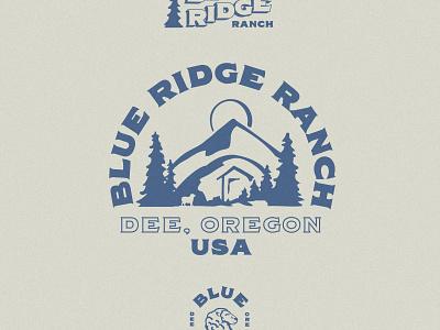 Blue Ridge Ranch branding logo design typography illustration