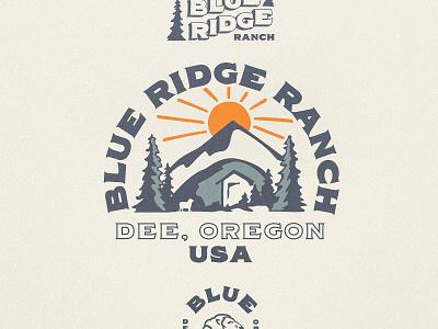 Blue Ridge Ranch Logo Set logo branding typography illustration
