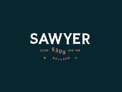 Sawyer seattle balalrd restaurant brand logo