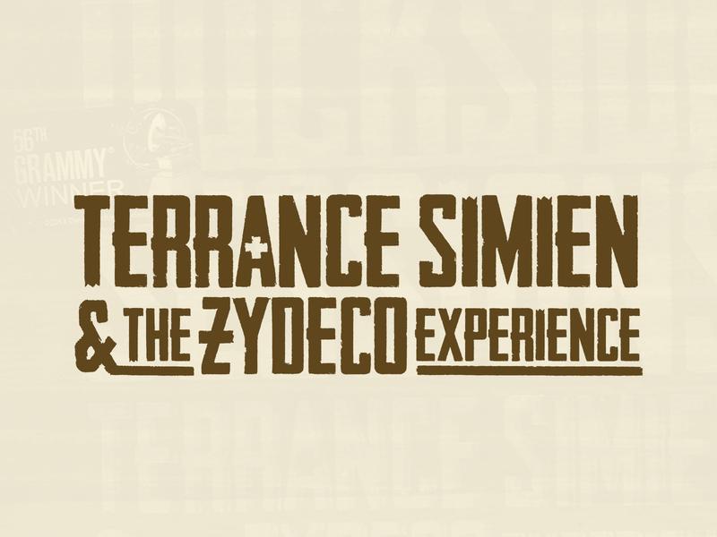 TERRANCE SIMIEN & THE ZYDECO EXPERIENCE - Logo Design grammy music art icon swamp americana folk south louisiana louisiana music zydeco typography design vector logo branding