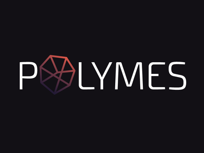 Polymes Concept low poly polygon app mobile tech community support logo design reddit