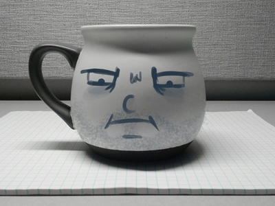 What day of the week is it? Mug series design life coffee cup sketching wacom practice tired