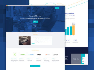 Landing Page app network landing page investment fund venture seed angel