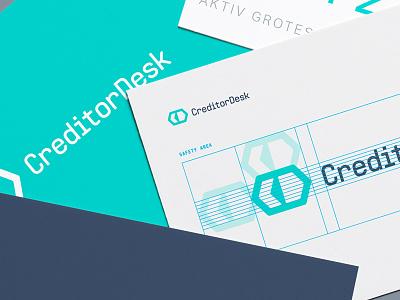 CreditorDesk Logo minimal flat simple teal branding logo