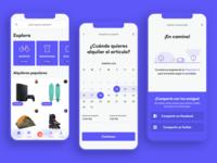 On-demand storage and rental App