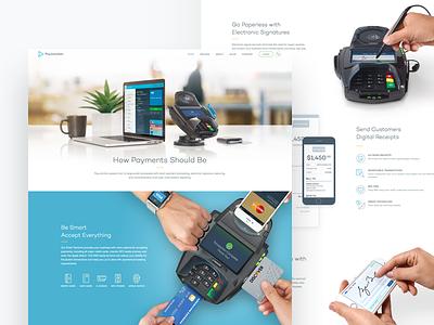 PJ Homepage unfold agency team processing payments terminal website design homepage