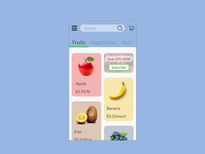 Daily UI #058 - Shopping Cart