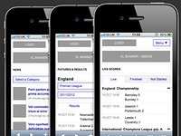 Mobile Wireframes (Football Site)