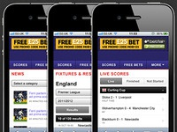 Mobile Styling (Football Site)