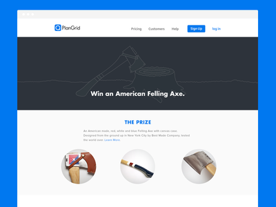 Plangrid - Win an American Felling Axe plangrid axe contest