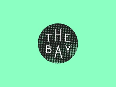 The Bay the bay mark type teal screenprint
