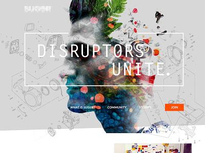 Disruptors Unite double exposure unite disruptors