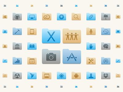 Cascade replacement system folders icons os x mac cascade