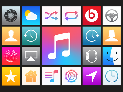 Cascade Playlists apple music playlists replacement system icons cascade