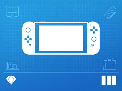 Switch UI Kit app concept sketch design kit ui switch nintendo