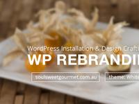 Rebranding WP Theme - Soul Sweet Gourmet