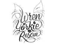 Wren Yorkie Rescue logo sketch