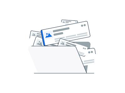Getting Organized brooklyn nyc nyc blue folder design ui grey illustration image card product offer organized