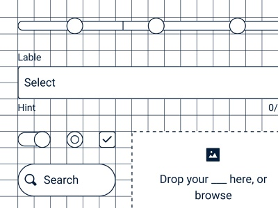 Design System Blueprint pt. 1 checkbox radio button input field select search dropzone progressbar toggle switch navy celebrate icon line brooklyn nyc brooklyn figma ui components blueprint system design
