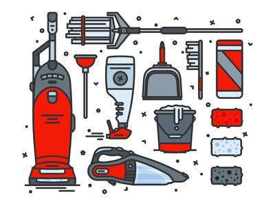 Housekeeping spray brush bucket brooklyn nyc sponge dust pan cleaning housekeeping plunger mop dust buster vacuum