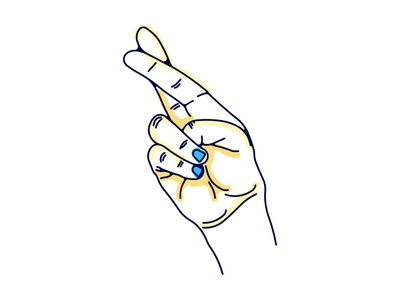 Promise blue drawing doodle sunday line weight break brooklyn ny illustration nail polish fingers crossed hand study promise
