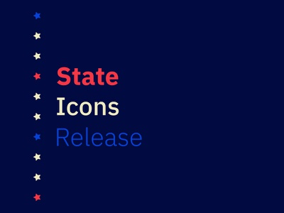 State Icons Release sans serif red white and blue noun project goodies full icon set patriotic usa release stars united states of america icons